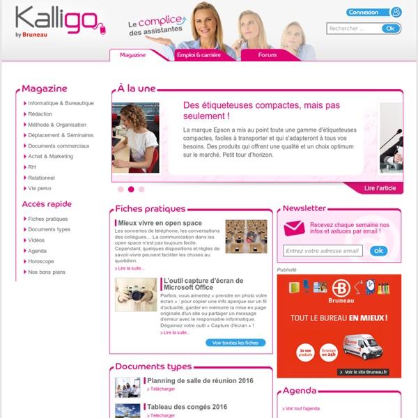 Secretaire ou Assistante de direction, Kalligo est l'outil en ligne fait pour vous
