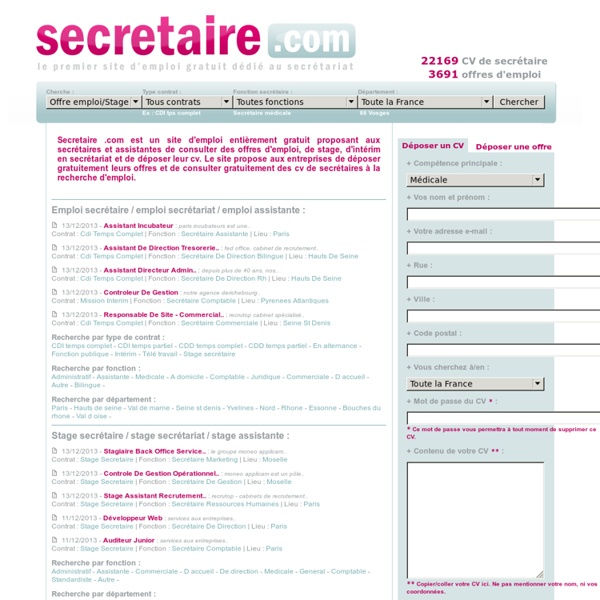 Lettre De Motivation Chef De Projet Informatique: Exemple Cv Secretariat