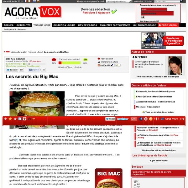 Les secrets du Big Mac