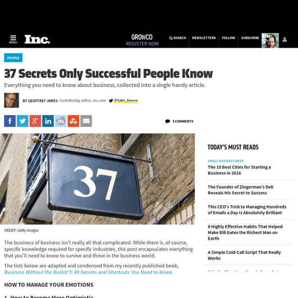 37 Secrets Only Successful People Know