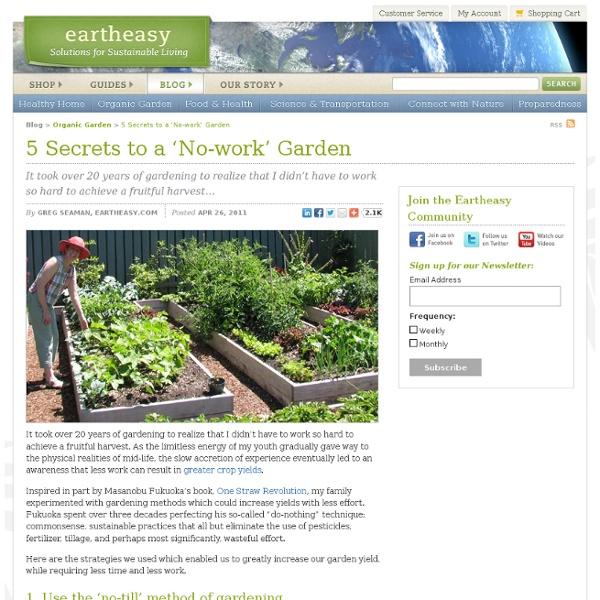 5 Secrets To A 'No-Work' Garden