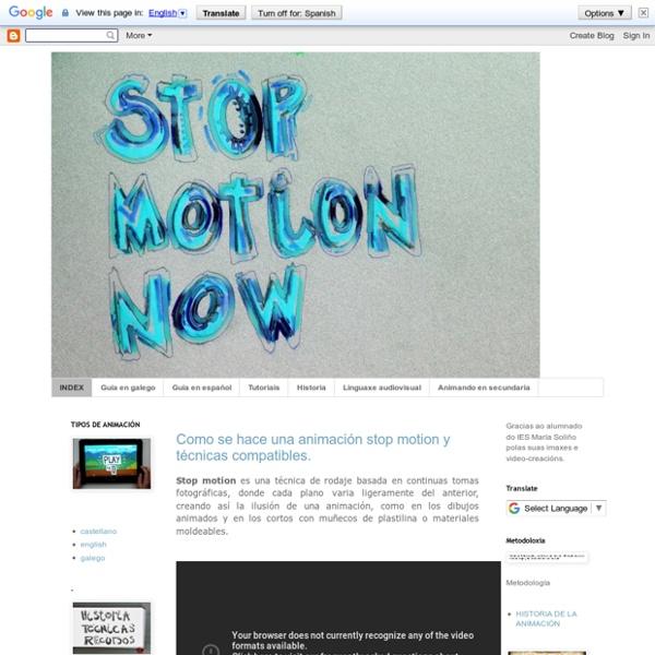 STOP MOTION NOW Recursos para la técnica de animación en educación secundaria y ciclos formativos
