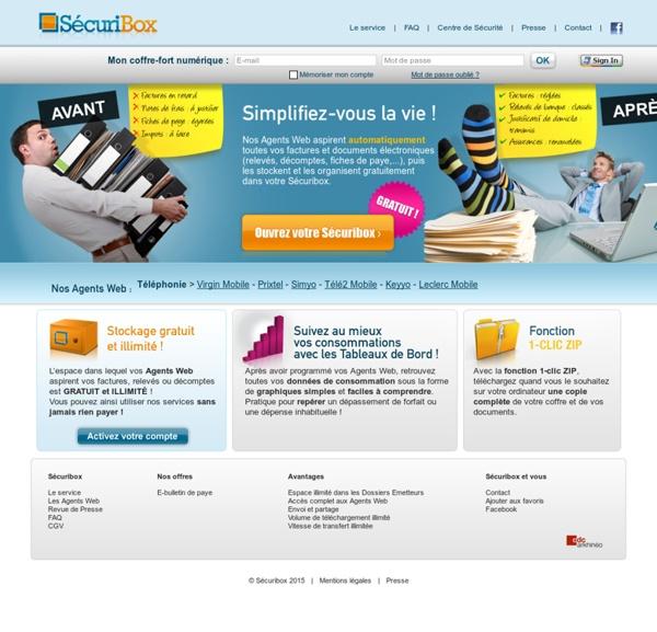 Sécuribox - Votre coffre-fort numérique gratuit