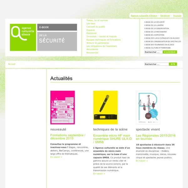 E-book de la sécurité - Collection des e-books de la culture de l'Agence culturelle d'Alsace