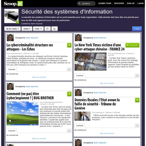 A LIRE ! Sécurité des systèmes d'Information