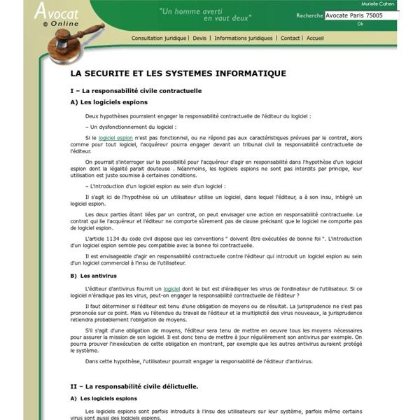 LA SECURITE ET LES SYSTEMES INFORMATIQUE