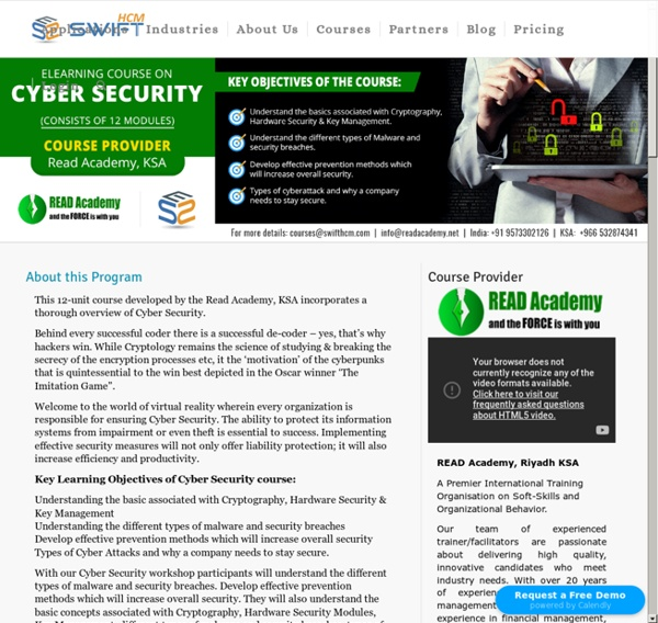 Cyber Security eLearning course - Implementing effective security measures