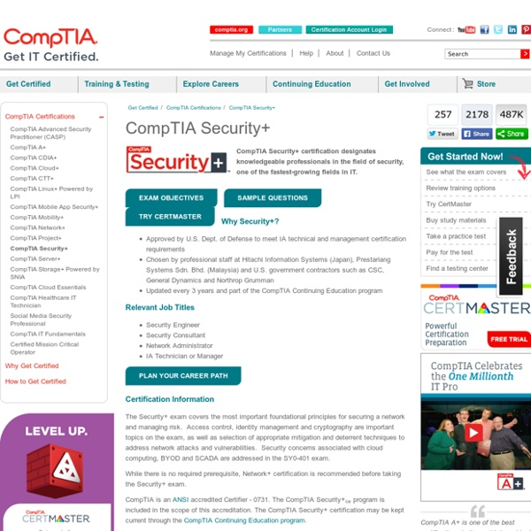 Security certification, CompTIA Security+ certification