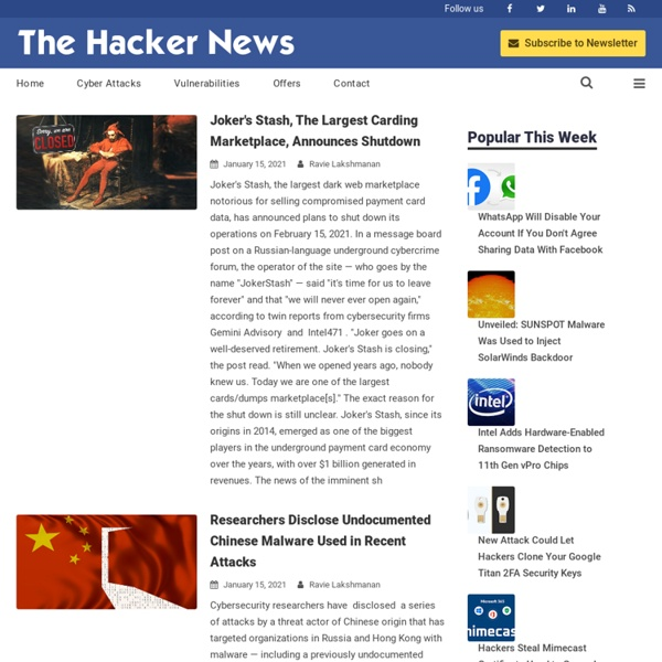 The Hacker News - Security in a Serious way