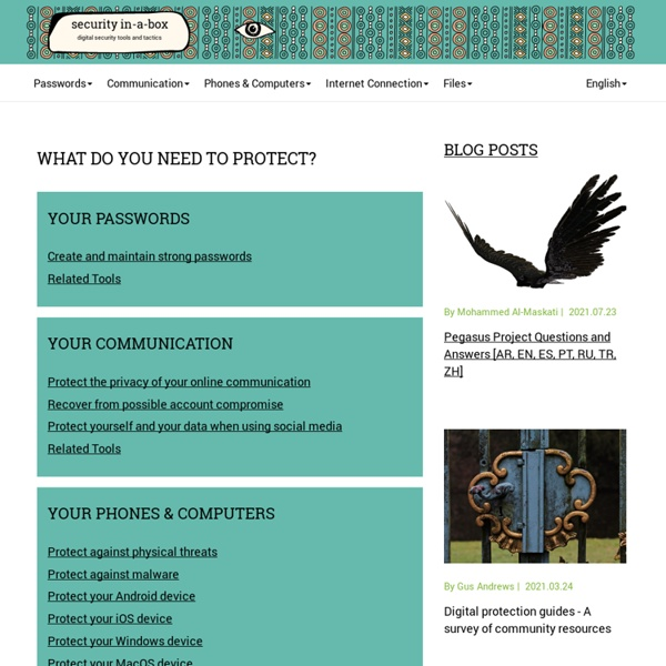 Tools and tactics for your digital security