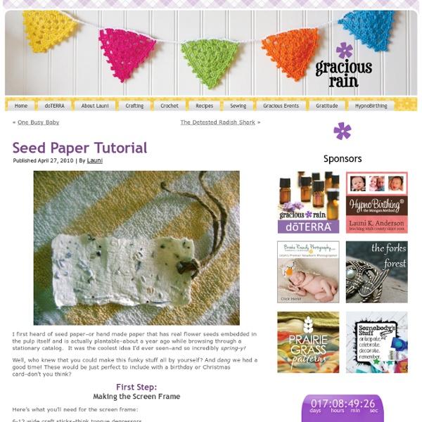 Seed Paper Tutorial