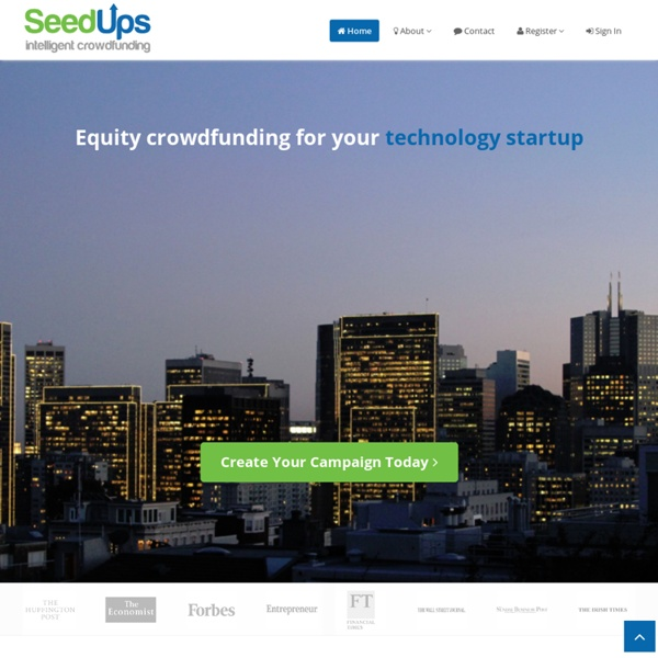 Crowdfunding network, seed capital for start-ups