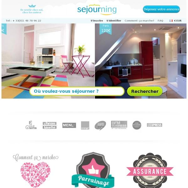Site d'annonces de location ou sous-location d'appartements courte durée entre particuliers