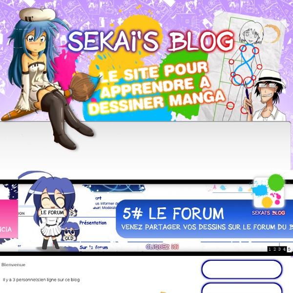 Dessiner manga sur sekai's blog