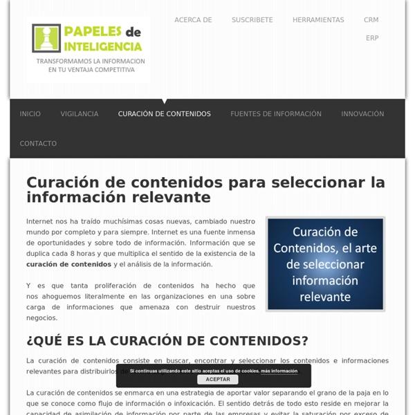 Curación de contenidos el arte de seleccionar la información relevante