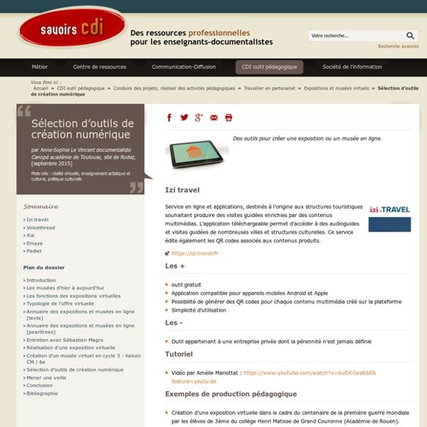 Sélection d'outils de création numérique