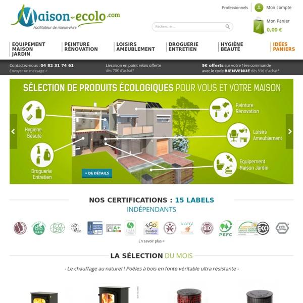Maison de l' écologie : matériaux et produits écologiques