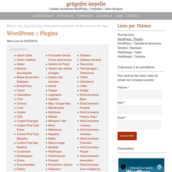 Sélection de Plugins pour WordPress
