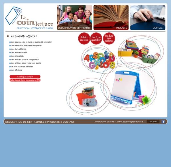 Le Coin Lecture - Sélection, littératie & plaisir - Notre catalogue de produits