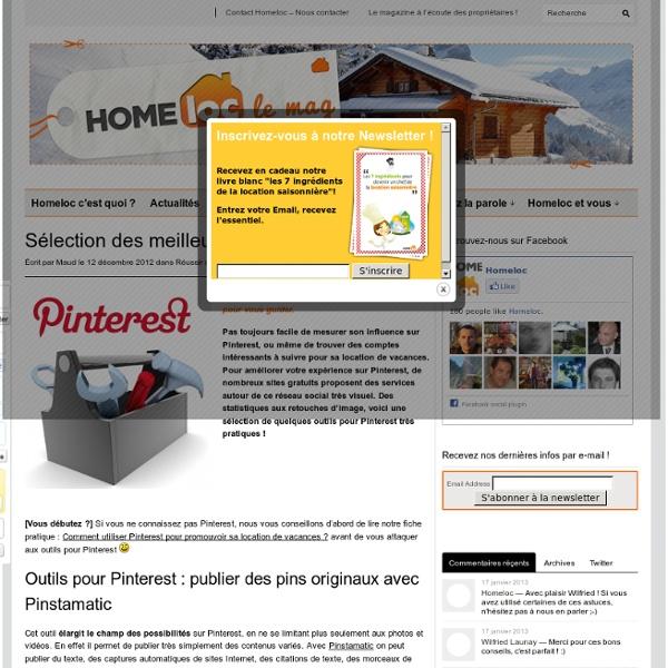 Sélection des meilleurs outils pour Pinterest
