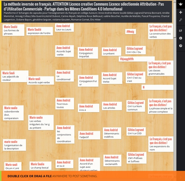 La méthode inversée en français. ATTENTION Licence creative Commons Licence sélectionnée Attribution - Pas d'Utilisation Commerciale - Partage dans les Mêmes Conditions 4.0 International