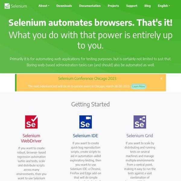 Selenium - Web Browser Automation