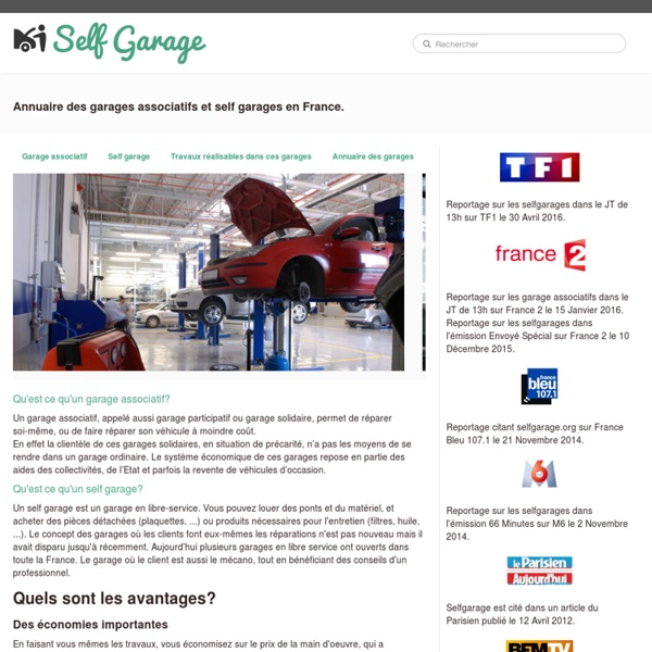 Annuaire des garages associatifs et self garages - Annuaire Selfgarage