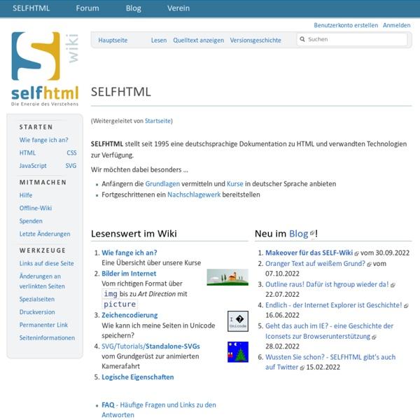 SELFHTML 8.0
