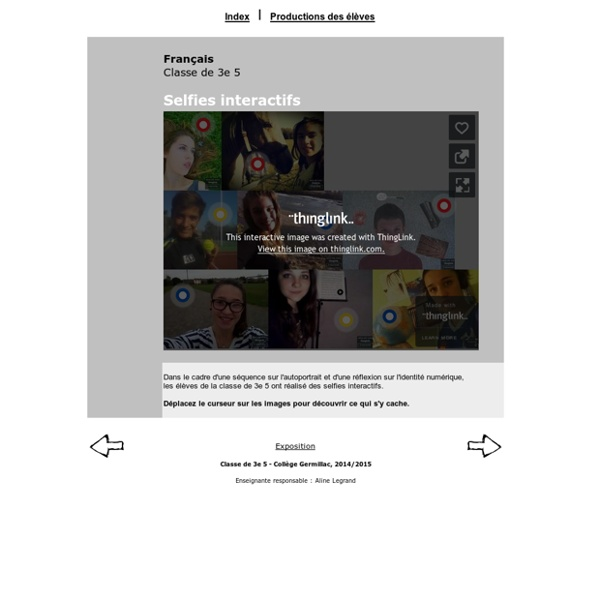 Selfies interactifs