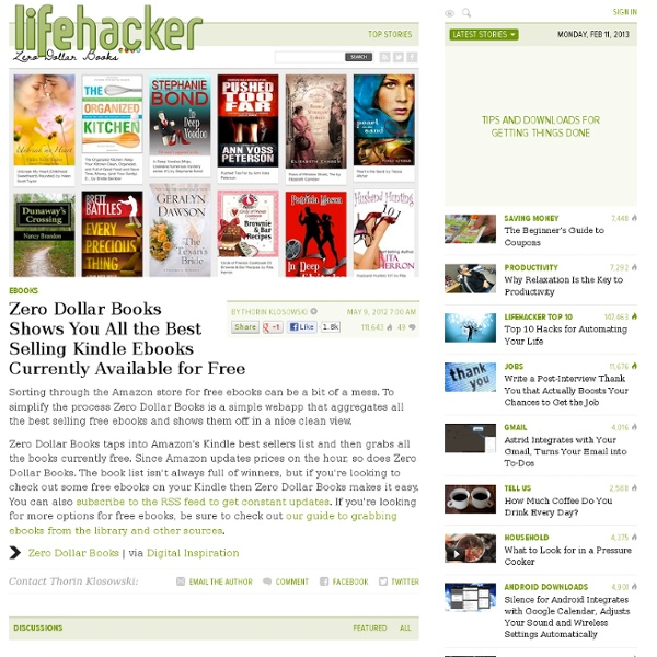 Zero Dollar Books: Free Best Selling Kindle Ebooks