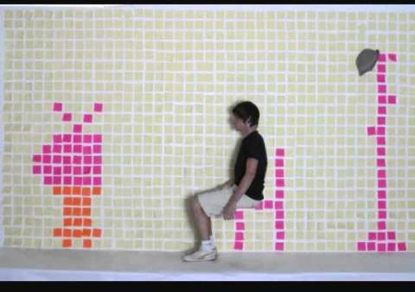 Stop motion en post it semaine de l'animation 2010