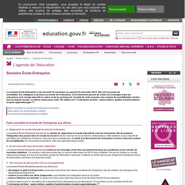 Semaine École-Entreprise