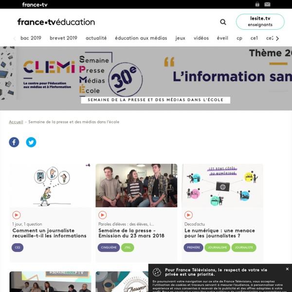 Semaine de la presse et des médias dans l'école - Francetv Éducation