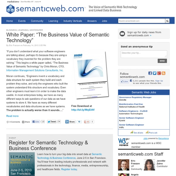 The Voice of Semantic Web Business