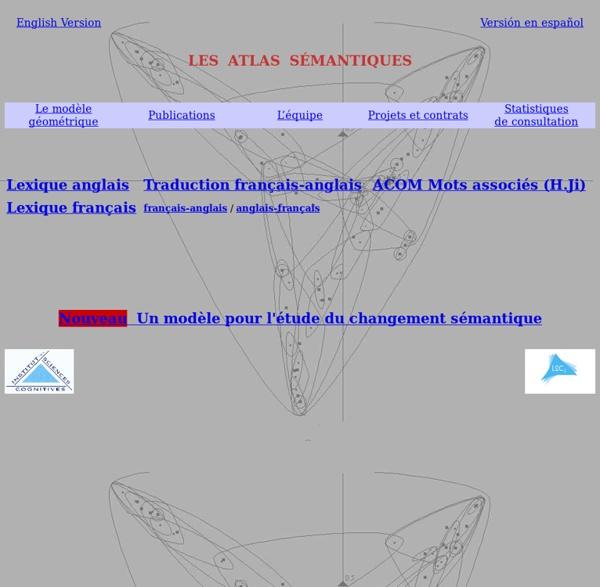 Atlas Sémantique - dictionnaire bilingue français-anglais / anglais-français dictionnaire des synonymes français / anglais / espagnols et traduction