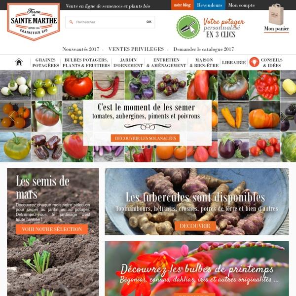 Semences, graines et plants bio - La Ferme de Sainte Marthe