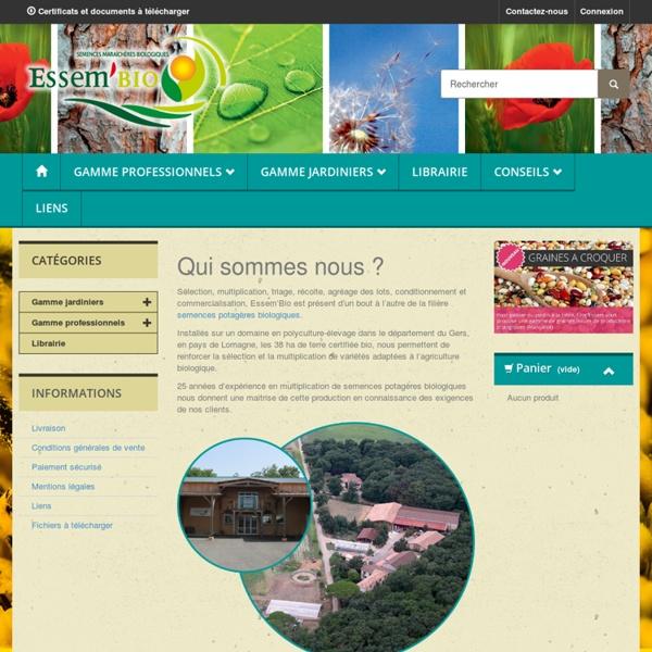 Essembio - Semences maraîchères biologiques - Essem'bio