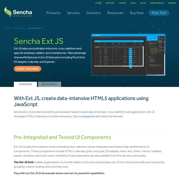 Ext JS - Client-side JavaScript Framework