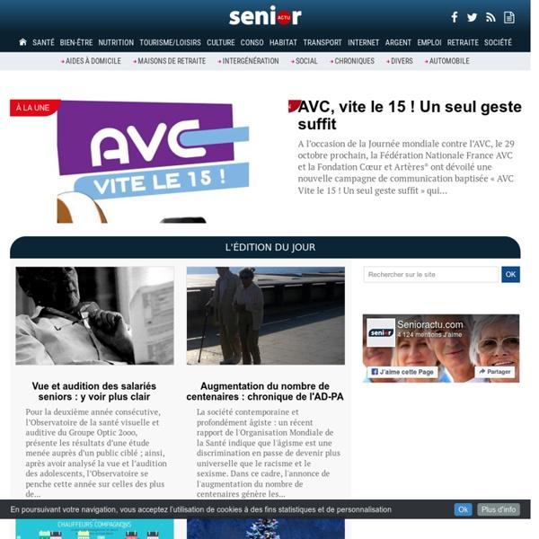 Senior actu : l'actualité senior sur internet