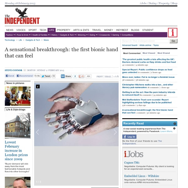 A sensational breakthrough: the first bionic hand that can feel - News - Gadgets & Tech