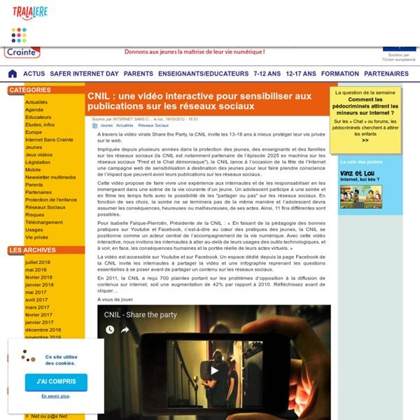 CNIL : une vidéo interactive pour sensibiliser aux publications sur les réseaux sociaux