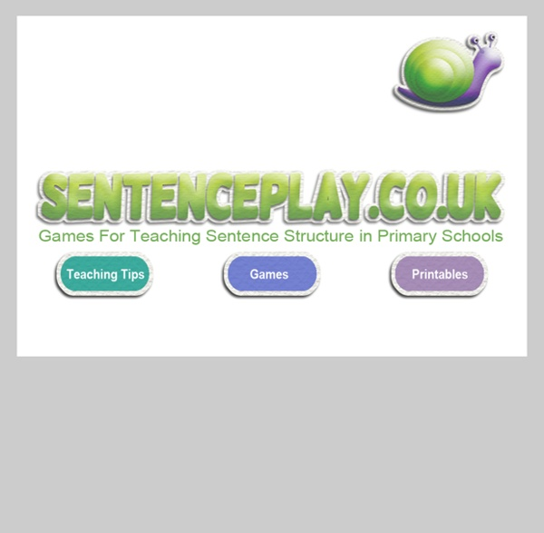 Sentence Play - Games for teaching sentence structure