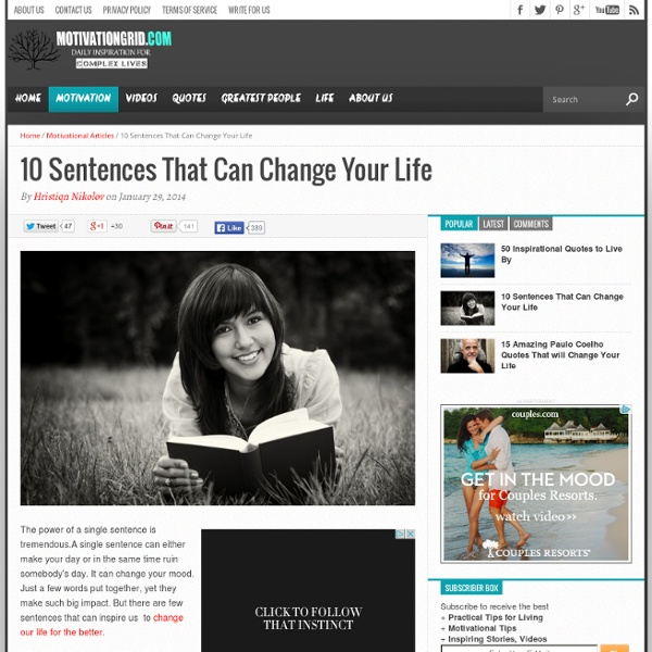 10 Sentences That Can Change Your Life for The Better