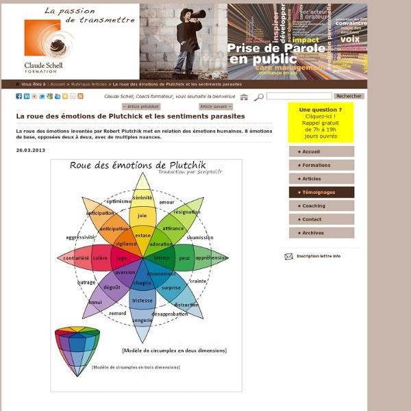 Claude Schell Formation - La roue des émotions de Plutchick et les sentiments parasites - Conseil en coaching à Strasbourg