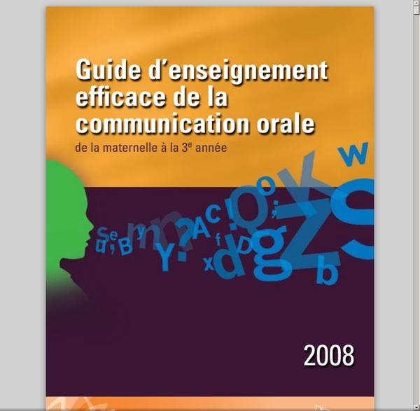 Enseignement efficace de la communication