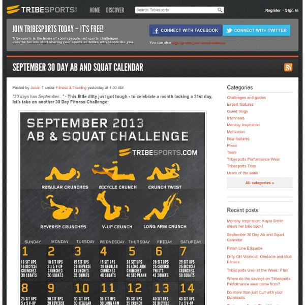 September 30 Day Ab and Squat Calendar