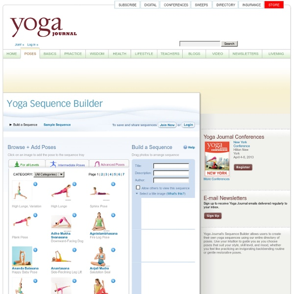 Yoga Sequence Builder - Create your own Yoga Routines ...