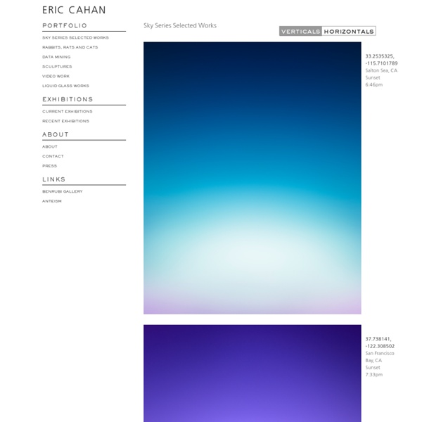 Sky Series Selected Works & Eric Cahan
