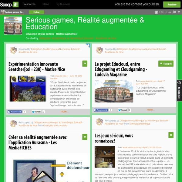 Serious games, Jeux sérieux & Education