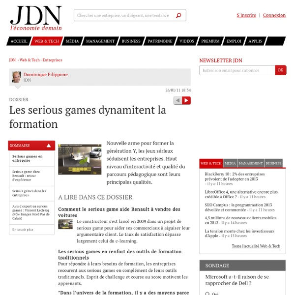 Les serious games dynamitent la formation - Journal du Net Solutions